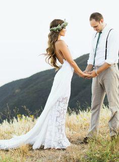 Cheap Wedding Dresses V-Neck A-Line Lace