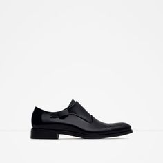 ZARA - MAN - LEATHER MONK SHOES WITH BROGUING...Beautiful...$140