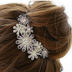 Gorgeous Alloy With Rhinestone Wedding/Special Occasion Hair Combs/Headpiece – US$ 19.99