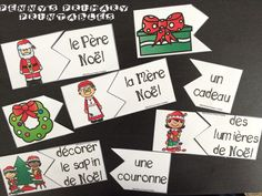 French Christmas Write the Room: Noël French Christmas, Christmas Words, All Things Christmas, Green School, French Resources, Word Puzzles, Vocabulary Activities, Word Pictures, Winter Activities