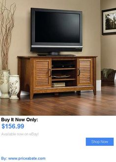 Entertainment Units, TV Stands: Tv Stand Entertainment Center Media Console  Furniture Storage Wood Cabinet