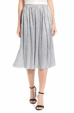 Vince Camuto Vince Camuto Pleat Foiled Knit Skirt available at Parisienne Style, Clothes For Sale, Clothes For Women, Nordstrom Sale, Nordstrom Anniversary Sale, Summer Scarves, How To Wear Scarves, Pleated Midi Skirt, Knit Skirt