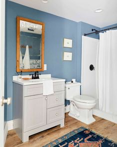 Budget Basement Bathroom - The One Where We Tried To Not Spend Money... (And Now You Know Why) - Emily Henderson #budgetbathroom #beforeandafter #bathroomremodel Man Bathroom, Budget Bathroom, Basement Bathroom, Bathroom Fixtures, Bathroom Ideas, Bathrooms, White Baseboards, Home Renovation, Home Remodeling