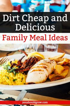 Looking for cheap meal ideas to feed the family? Here are 20 ideas for tasty meals on a budget! Frugal Meals, Budget Meals, Quick Meals, Budget Recipes, Cheap Recipes, Cheap Meals On A Budget Families, Group Recipes, Simple Meals, Family Recipes