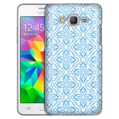 Samsung Grand Prime Victorian Royalty Blue on White Slim Case