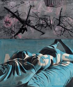 David Salle, like the use of letters and the painted on top