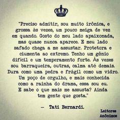 8 Melhores Imagens De Tati Bernardi Texts Truths E Writers