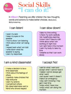 """I Can Do It!"" Teaching social skills with new words and behaviors #Bloom"