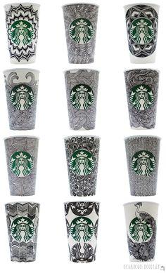 Starbucks coffee cup doodles