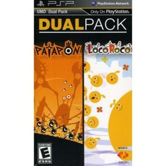 SONY PSP Dual Pack  Patapon / LocoRoco  2 Games in 1