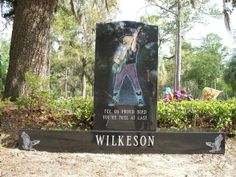 """Leon Wilkeson - Rock Musician. He was the bass guitarist for the Southern rock band """"Lynyrd Skynyrd"""". On stage and on record, their full-throttle boogie style was both explosive and surprisingly graceful as evident in the genre's landmark """"Free Bird"""" and """"Sweet Home Alabama"""". Known for his outlandish hats, Leon Wilkeson survived the plane crash in 1977 that killed band memebers Ronnie Van Zant, Steve Gaines and singer Cassie Gaines."""