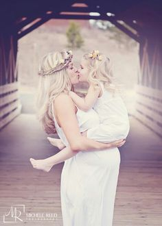beautiful mother and children photograph