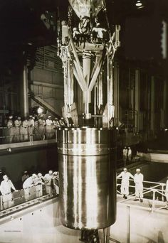 The nuclear reactor core at  Shippingport - first civilian nuclear power plant