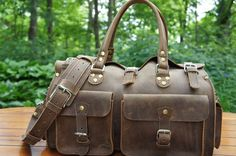 The Marlondo Leather Duffel Bag is a great addition to any traveler's baggage. It is sturdy and takes the abuse of handlers in stride. I used my bag as my main luggage for a six week trip th…