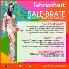 27 Jun-31 Aug 2015: Fahrenheit88 Sale-Brate 1Malaysia Mega Sale Carnival