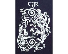 Tyr Norse Heathen Viking Rune T-Shirt WH