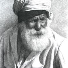 Mark Clark - Rajasthani Man with White Beard, Jodphur