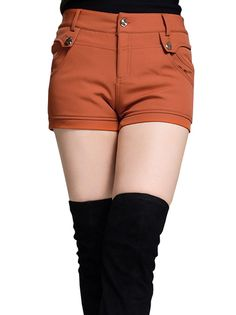 Women's Cool Brief Thicken Warm OL Style Leisure Short Casual Pants Two Colors on buytrends.com