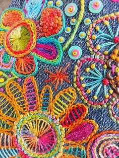 Hand stitch embroidery