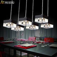 Creative restaurant lights chandelier three modern minimalist lighting creative lighting lamps hanging crystal led fashion