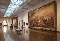 Sala 1 - 2º piso - A Batalha dos Guararapes - 1879 - Pintor: Vitor Meireles de Lima  - Óleo sobre tela