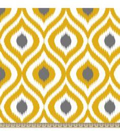Anti-Pill Fleece Fabric Diamond Ogee Yellow