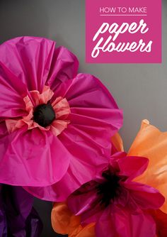 Giant poppies: How to make paper flowers - Mollie Makes