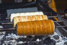 Pic: Baking kürtöskalács  chimney cakes
