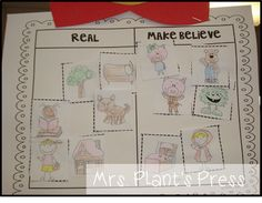 Real and make believe freebie