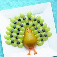 Comida para niños : Pavo hecho de Frutas