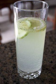 Cucumber mint lemonade punch