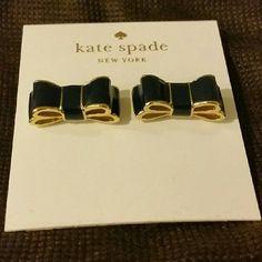 "Kate Spade ""Moon River"" earrings Kate spade double bow Navy Blue Earrings kate spade Jewelry Earrings"