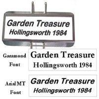 Garden Labels, Plant Labels, Custom Printed Labels, Printing Labels, Plant Markers, Garden Markers, Garamond Font, Garden Gifts, Gardening Tips
