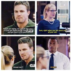 Oliver, Felicity, and Diggle Scandal Quotes, Glee Quotes, Tv Show Quotes, Scandal Abc, Arrow Tv Shows, Arrow Tv Series, Cw Series, The Cw Shows, Dc Tv Shows