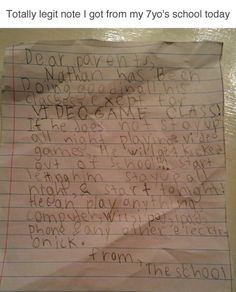 The kid who had a very important homework assignment: