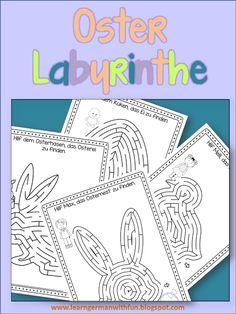 Ostern Arbeitsblätter. Labyrinthe für die Grundschule zum Thema Ostern