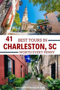Whether you want to learn the about the history or the ghosts, or see the city from the water or from a horse-drawn carriage --one ( or three) of these Charleston tours is sure to work for you. Top Family Vacations, Family Resorts, Family Travel, Visit Charleston Sc, Charleston Tours, Usa Travel, Travel Tips, Sailing Lessons, South Carolina Vacation
