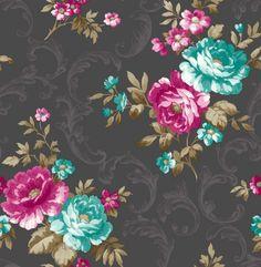 Tatiana Charcoal Wallpaper, 5011419301966