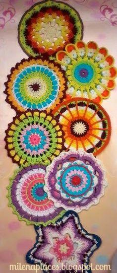 My place ... s: Mandalas, flowers, wheels, colors! / Mandalas, flowers, wheels…