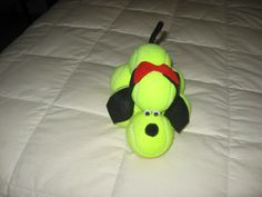 My lucky tennis puppy given to me/made by one of my team mates.