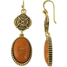 Art Smith by BARSE Genuine Sponge Coral Brass Drop Earrings ($36) ❤ liked on Polyvore featuring jewelry, earrings, coral drop earrings, coral earrings, bead jewellery, coral jewellery and brass jewelry