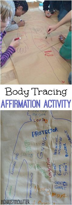 This body tracing therapy activity provides positive reinforcement and also allows kids the chance to practise encouraging others.