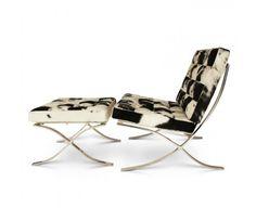 Barcelona chair + stool (Cowhide)