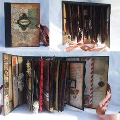 Travel Journal Mini Album Scrapbook by sugarcanetrain808 (Etsy) N/A