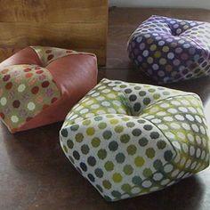 Biscornu cushions