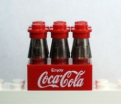 NEW Lego Food Soda ~ COKE, COCA-COLA 6 pack NO DECALS!!