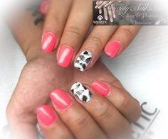 Vernis semi permanent #PinkNails #stamping #Magnetic