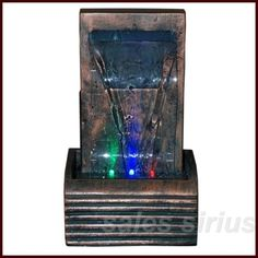 Table Top Water Fountain Indoor Feature Desk Decor Fall Cascading