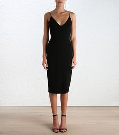 Zimmermann Crepe Harness Midi Dress