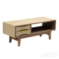 Vodder Moderno Media TV Cabinet/Modern Coffee Table, Natural Ash Wood |